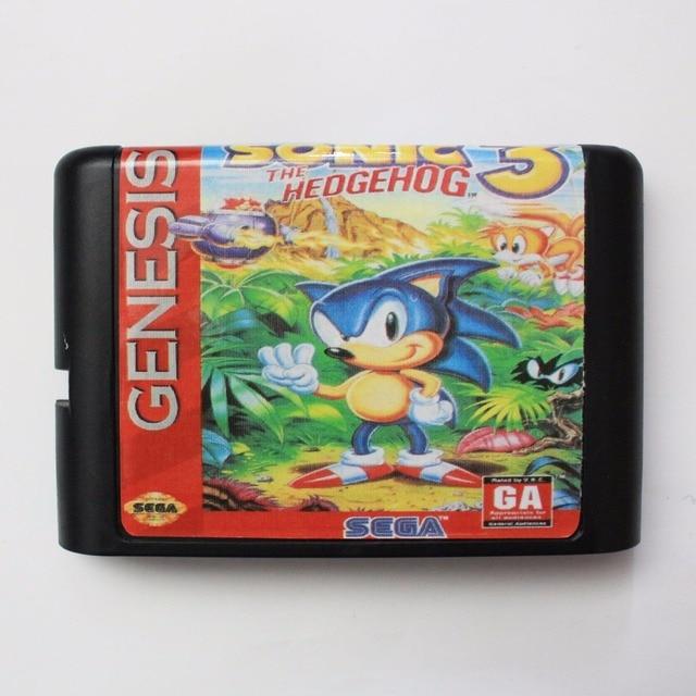 Sonic 3 16 Bit Sega Md Game Card Voor Sega Mega Drive Voor Genesis