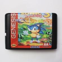 Sonic 3 16 bit SEGA tarjeta de juego MD para Sega Mega Drive para Genesis