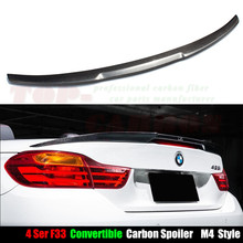 M4 Style f33 spoiler for BMW 4 Series F33 Convertible Carbon Fiber Rear Trunk Spoiler 2014 2015 2016