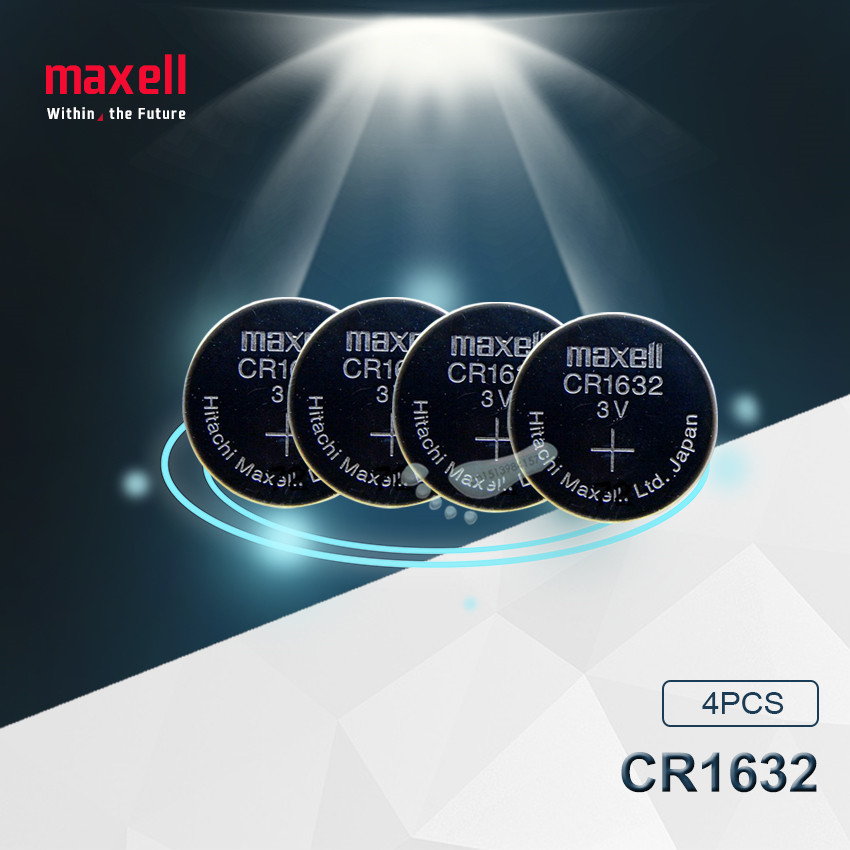 4pc Maxell Original CR1632 1632 DL1632 3V Lithium Batteries Cell Button Coin Battery