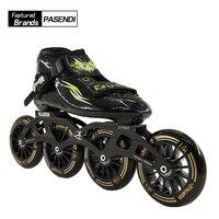 Профессиональный Для мужчин S Скорость скейт обувь 4 колеса роликовые коньки Для женщин/Для мужчин на роликах Сапоги Взрослых/ребенок новин