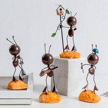 цена на Creative Elf Living Room Home Decorations Nordic Ant Bedroom Furnishings Wine Cabinet Window Porch Ladybug Small Furnishings