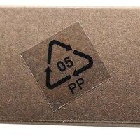 2*2 cm Atacado Plástico Transparente PP Recicláveis Etiqueta Auto Adesiva Transparente Poli a Rotulagem Ambiental Adesivos 36 pcs/folha