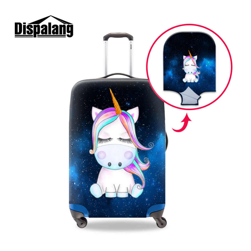 41d357d9a Cartoon Suitcase Cover Unicorn Printed Luggage Cover Cute Travel Accessory  Elastic Suitcase Protector Dustproof Baggage Cover