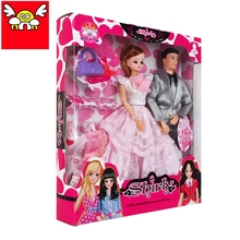 New fashion warm family toy joint dolls for barbie doll toys funny doll accessories set diy dress up for girls christmas gift
