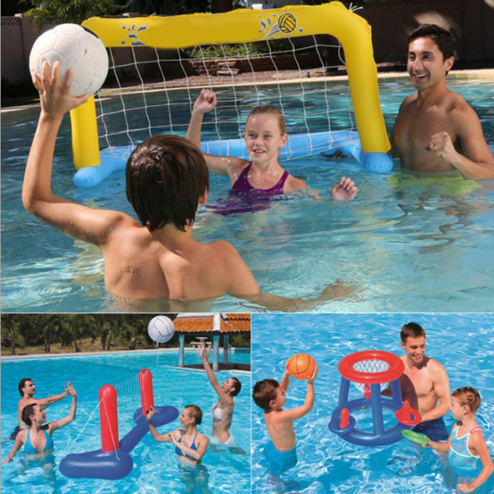 US $12.88 31% OFF|Swimming pool toy inflatable football volleyball  basketball water sports game for adult children-in Swimming Rings from  Sports & ...