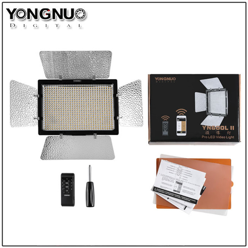 YONGNUO YN600 II YN600L II LED Studio Light with 3200-5500K Color Temperature and Adjustable Brightness for the Camera Camcorder