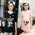 IAiRAY бренд детей одежда девочек одежда черная футболка девушка футболка с длинным рукавом dress девушки топы футболки дети топ тройники