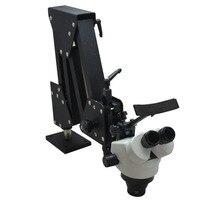 7X 45X стерео микроскоп с твердой алюминиевой подставкой ювелирный микроскоп зубной микроскоп для ювелирных инструментов