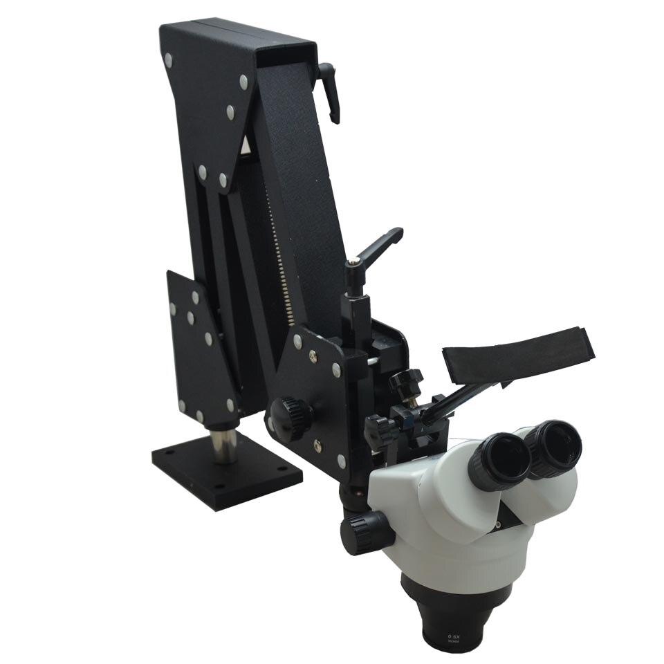 7X-45X Microscopio Stereo con Hard Alluminio Stand Microscopio Microscopio Gioielli Dentali per Gli Strumenti di Gioielli