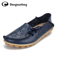 Fashion Women Girl Female Ladies Shoes Flats Spring Autumn Slip On Round Toe Casual Rubber Pigskin