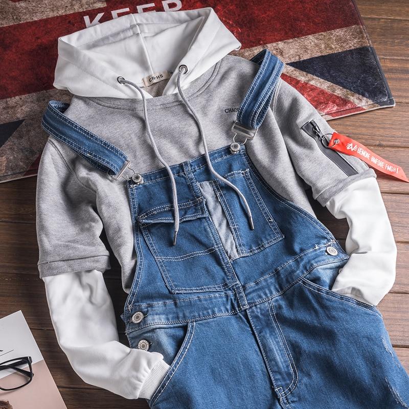 Mens Vintage Jeans Jumpsuit One Piece Work Bib Denim Overalls Male Hip Hop Suspender Pants Japan Fashion Men Cargo Strap Jeans Men's Clothing