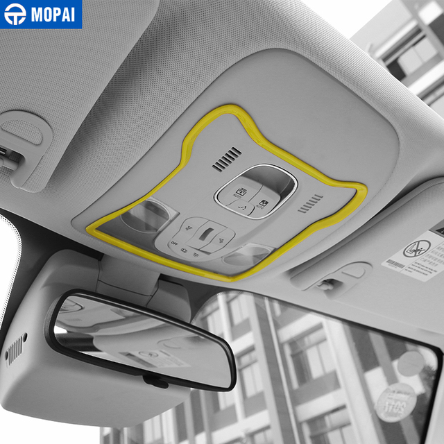 MOPAI ABS Interior Front Reading Light Lamp Decoration Cover Trim Stickers for Jeep Renegade 2015-2016 Car Styling