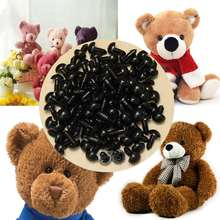 New 12mm Black Plastic Safety Eyes Toy Eyes 100Pcs/50pairs For Puppets Doll Crafts Doll Eyes Handmade Accessories with Washers