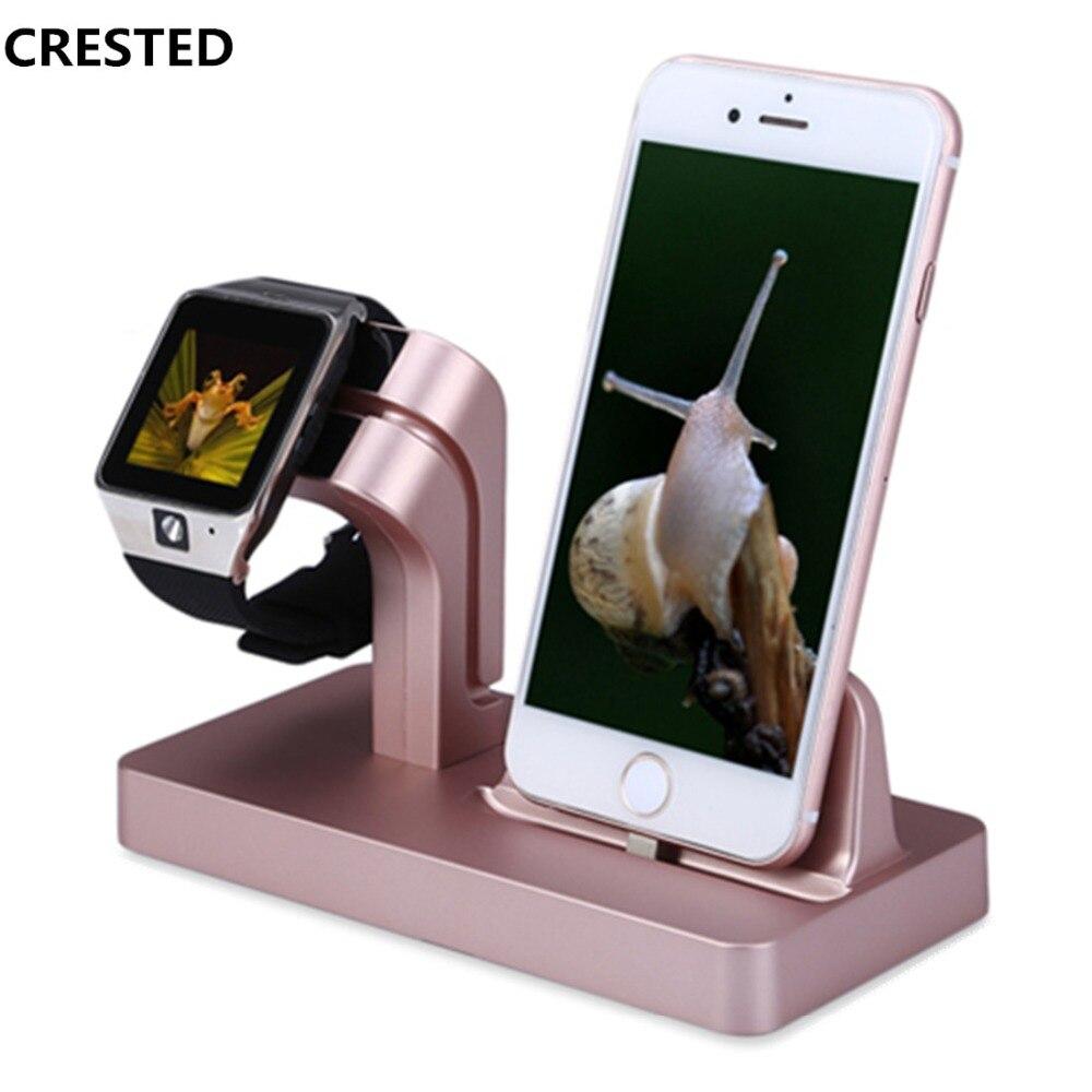 CRESTED Lade Dock Ständer Halter Für Apple uhr 4/3/2/1 42mm 38mm IPhone X 87 7/8 Plus 6 s 6 Plus 6 s 5 s 2 in 1 ladegerät station