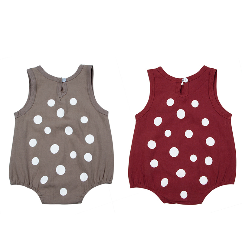 Summer Infant Bodysuits For Baby Girls 2PCS Sets Clothes Sleeveless Jumpsuit Sunsuit Outfits + Caps Toddler Sloid Clothing