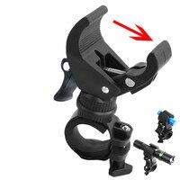 Soporte de lámpara negro tipo U de 360 grados  soporte de fijación para linterna frontal de bicicleta  soporte de fijación para linterna