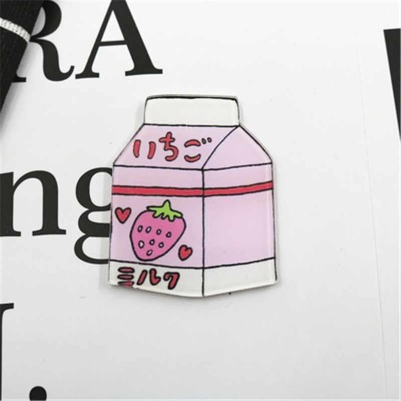 1Pcs Lucu Kartun Strawberry Pink Panther Pin untuk Wanita Anak Kerah Bros T-shirt Rok Dekorasi Lencana Gadis Hadiah