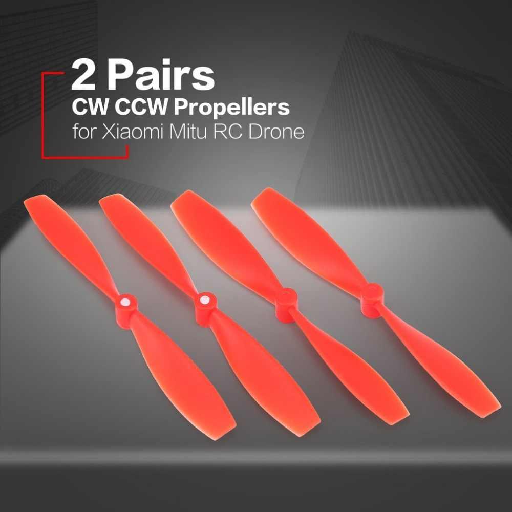 2 pary CW CCW śmigła Mini rekwizyty ostrza części zamienne akcesoria do Xiaomi Mitu dron zdalnie sterowany FPV Quadcopter UVA