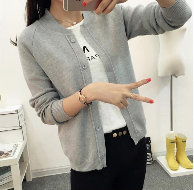 HAO HE SHEN New 2017 spring autumn Cardigan Fashion Women Sweater High quality long sleeve Casual Female Knitting Sweaters women