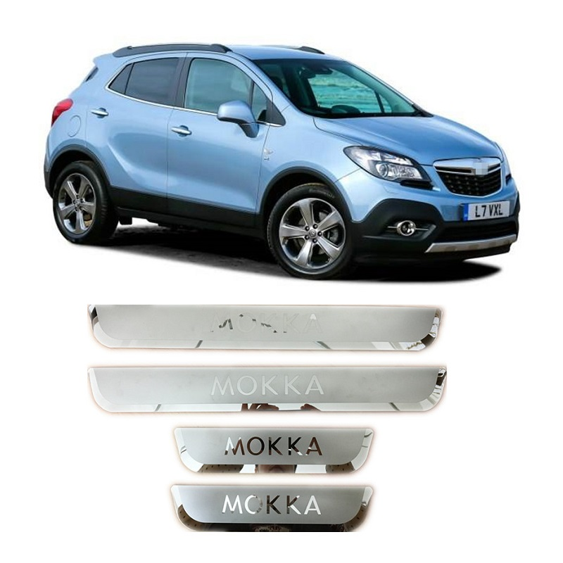Stainless Steel Scuff Plate Door Sill Cover Trim For VAUXHALL OPEL MOKKA 2012 2013 2014 2015 2016 Car Styling Accessories