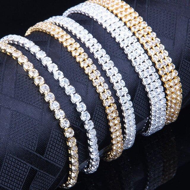 Liuyuwei Moda Cubic Zirconia Tennis Bracelet & Bangle Oro Argento di Colore del Braccialetto di Fascino Per Le Donne Da Sposa di Cerimonia Nuziale Dei Monili Del Partito 5