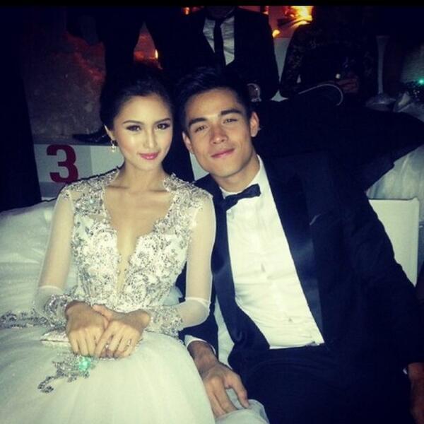 2015 Luxury Ball Gown Wedding Dress Kim Chiu at Star Magic Ball V ...