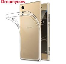 Dreamysow Case Transparent For Sony Xperia XZ1 XZs Z5 Compact XA1 Ultra Plus X XA XZ XZ Premium Plus L1 Z3 Mini Soft TPU Cover