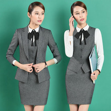 c68c7e885d97e Buy women formal grey office uniform and get free shipping on ...