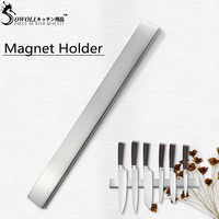 Sowoll Magnetic Self adhesive 45CM Length Knifes Stand Stainless Steel Block Strong Magnet Knife Holder For Kitchen Knives