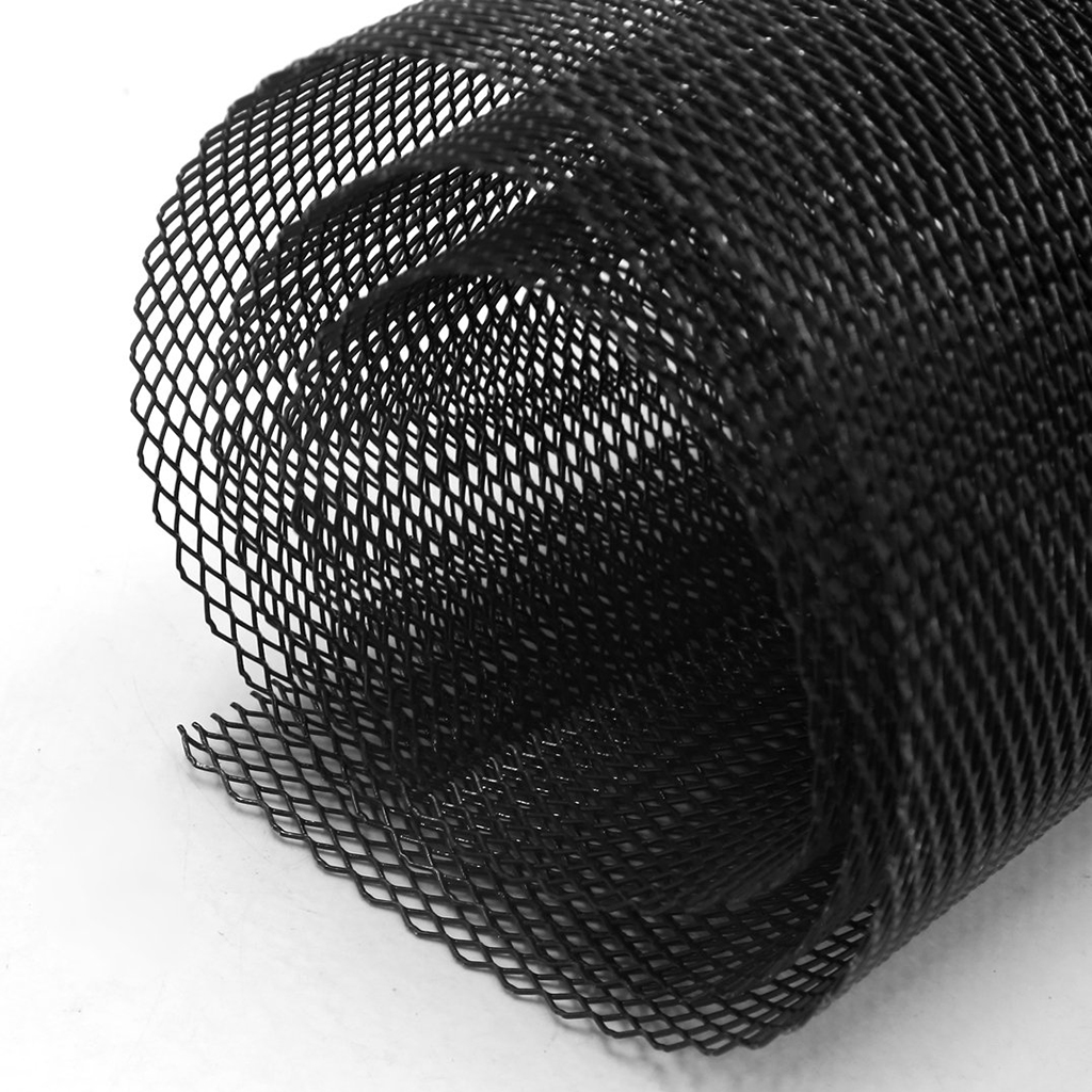 Image 4 - 1x Universal Car Vehicle Silver Tone Aluminum Alloy Rhombic Grille Mesh Sheet Black for Bumper Hood Vent Vehicle 100x33cm-in Front & Radiator Grills from Automobiles & Motorcycles