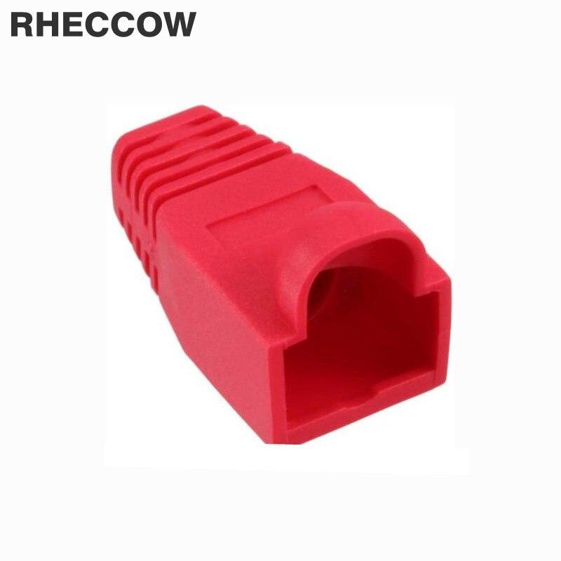 Elektronische Zubehör & Supplies Herrlich Rheccow 500 Teile/los Rj45 Rot Netzwerk Kabel Stecker Boots Kappe Cat5 Cat6 Rj-45 Schutzhülle