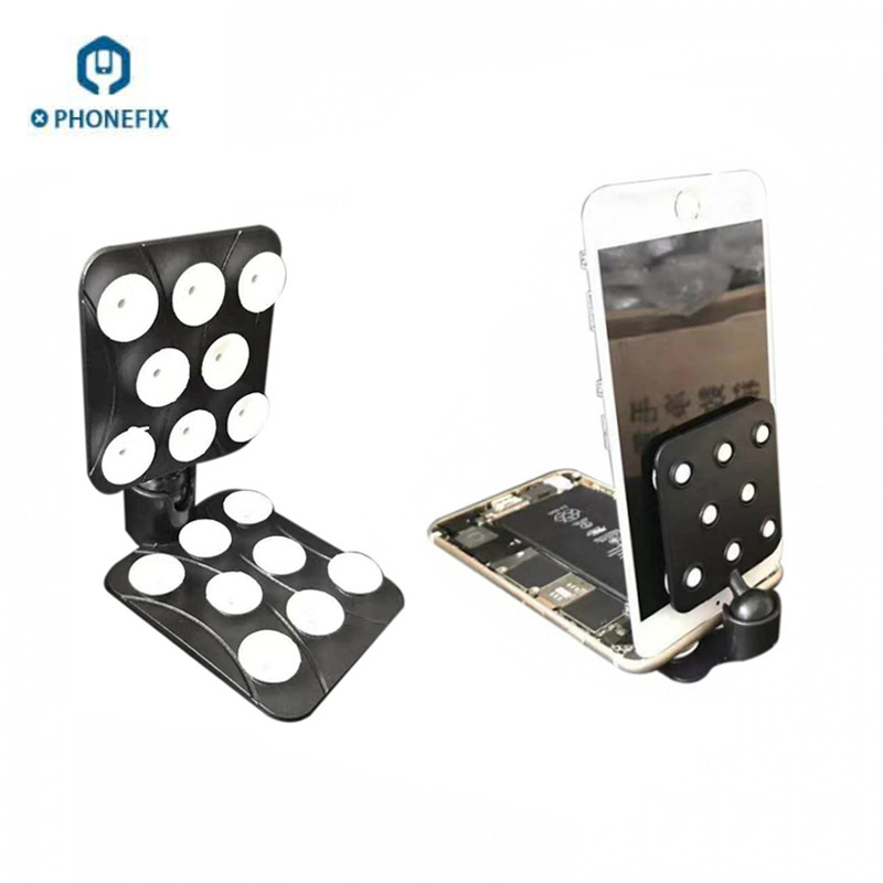 PHONEFIX Rotatable Fixed Screen Holder with Mini Suckers Standing Fixture Mobile Phone Screen Opening Tools for Samsung Repair