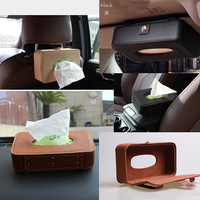 Car Sunshade Board Type Microfiber Leather Car Tissue Box Installed On The Visor Seat Back