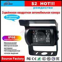سيارة كاميرا 2 بوصة مربع للماء 12 V الجهد ميكروفون مدمج الركاب سيارة/صغيرة سيارة/حافلة المدرسة/شبه  مقطورة-في كاميرا مركبة من السيارات والدراجات النارية على