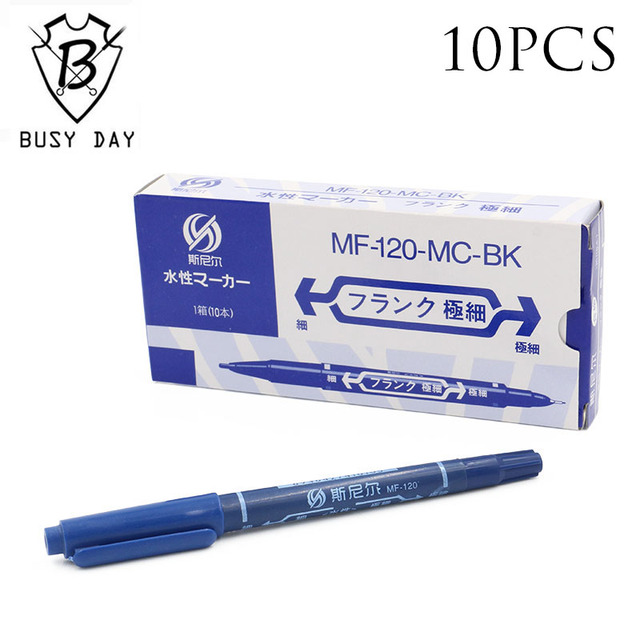 Sale Airbrush 10pcs Professional Tattoo Transfer Pen Blue Dual Skin Marker Accessories For Permanent Makeup
