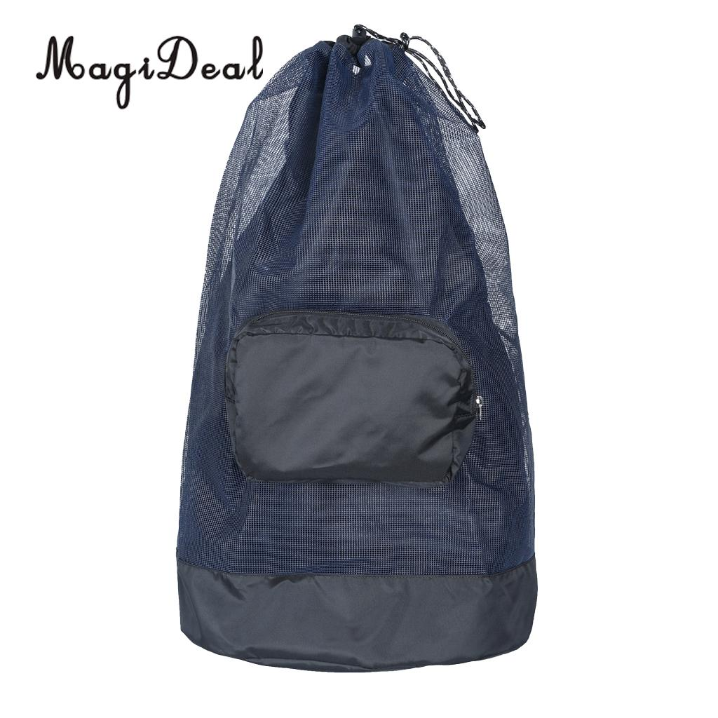 MagiDeal Lightweight Foldable SCUBA Snorkeling Mesh Duffel Backpack Dive Bag W/ Compact Pocket For Diving Swimming Accessories