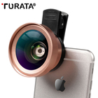 TURATA Phone Lens 2 in 1 Cell Phone Camera Lens Kit, 0.45x Wide Angle +15X Macro Lens for iPhone Samsung Android Smartphones