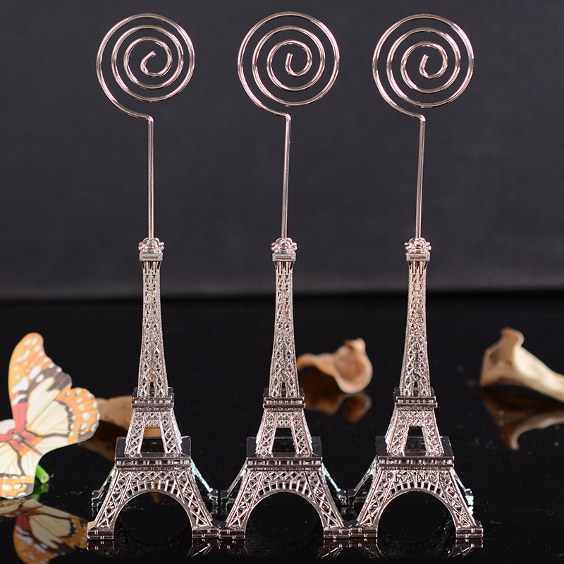 Vintage Eiffel Tower Modell * Metal Craft Office Table Clip Card meddelande papper memo stiker hem dekoration tillbehör miniatura