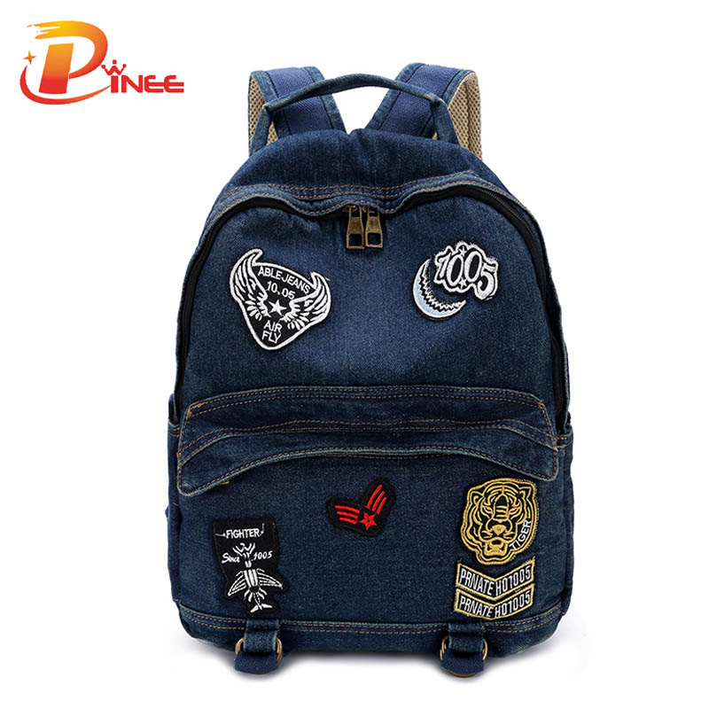 Japan and Korean Style Denim font b Women s b font font b Backpack b font