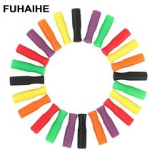 FUHAIHE 100Pcs/Set Food Grade Silicon Tips Cover for 6mm Stainless Steel Straws Teeth Protector