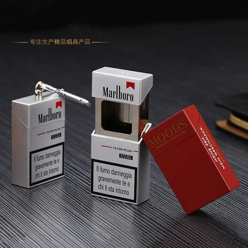 Fashion Portable Ashtray With lid Keychain Pocket Mobile Ashtray auto aschenbecher Mini Cigarette Metal Bottle Storage Package
