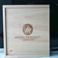 Drewniane 2.0 USB Flash Drive-Klienta DIY LOGO Maple Okno Zdjęcia z Słomek wewnątrz. posiada 4x6 Zdjęcia