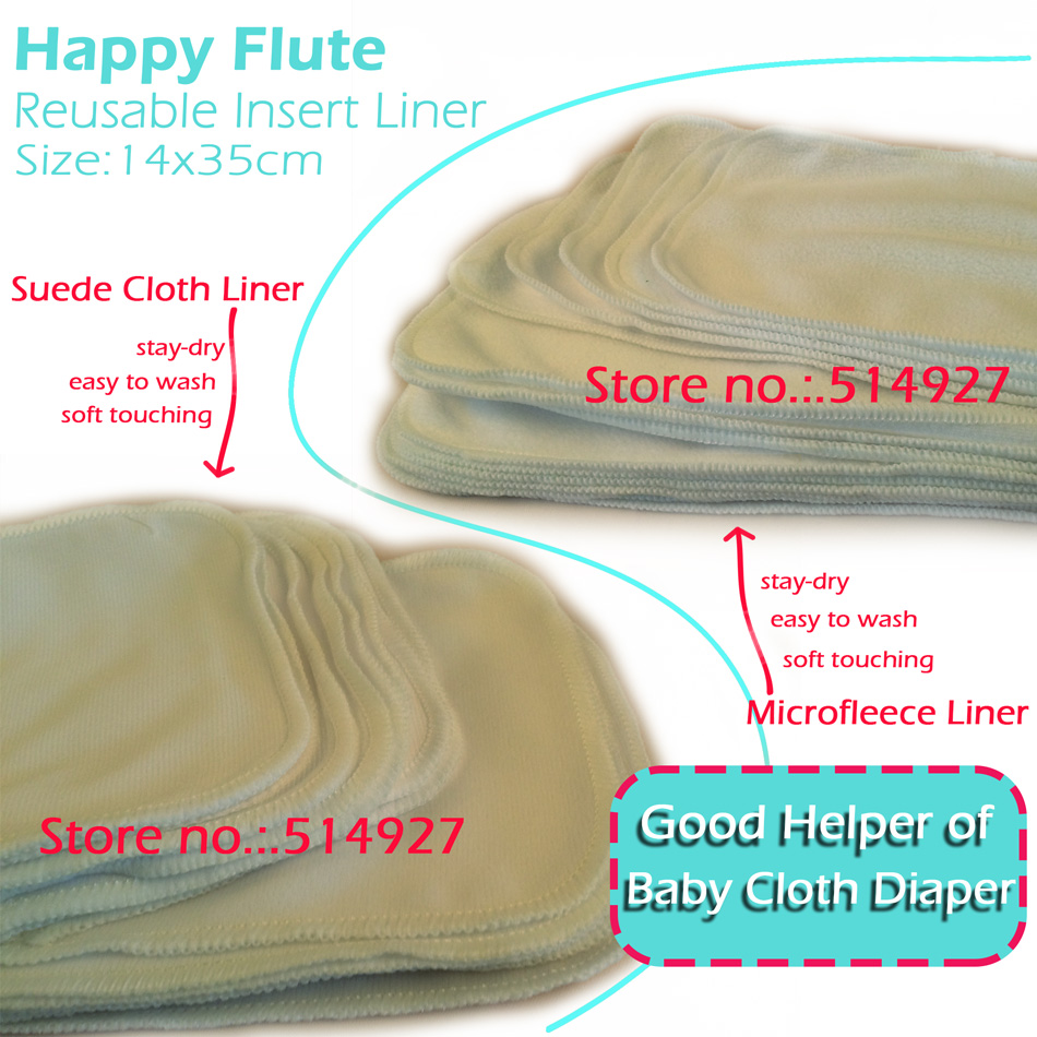 HappyFlute Reusable Insert & Diaper Liner, Just Make Sure It Is First Layer Under Baby's Bum, Stay-dry,soft And Easy To Wash!