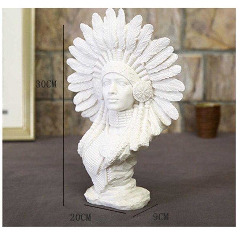 vilead 30cm 11 8 sandstone indian woman figurines vintage home