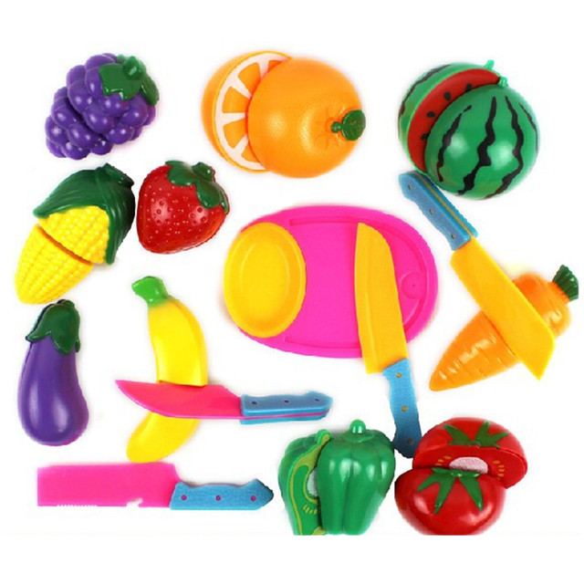 Hot penjualan berpura-pura play kitchen toys memotong buah-buahan dan  sayuran rumah play 80d2945e12