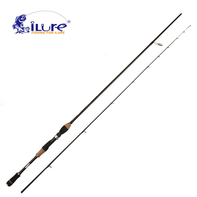 iLure Fishing <font><b>Rod</b></font> Spinning Casting <font><b>Rod</b></font> 1.98M/<font><b>2</b></font>.1M/<font><b>2</b></font>.4M/<font><b>2</b></font>.7M Carbon Fiber Wood Seat & Handle Casting <font><b>Rod</b></font> <font><b>2</b></font> Section Pesca