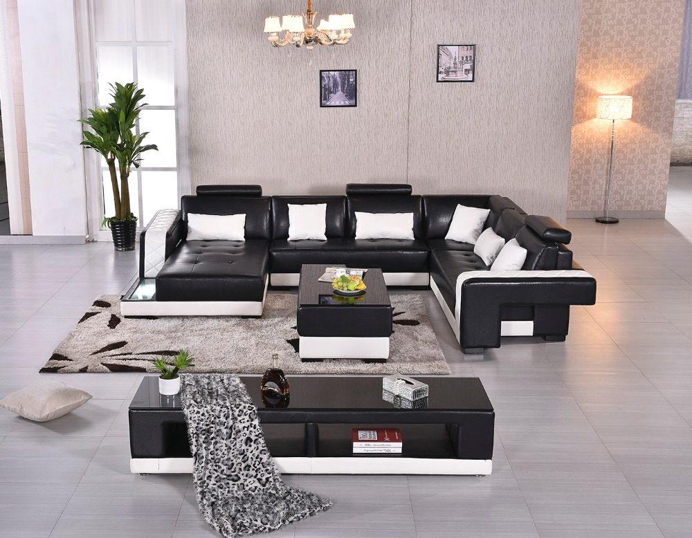 2016 Rushed Sectional Sofa Design U Shape Sofa 7 Seater Lounge Couch Good  Quality Cheap Price Leather Sofa In Living Room Sofas From Furniture On ...