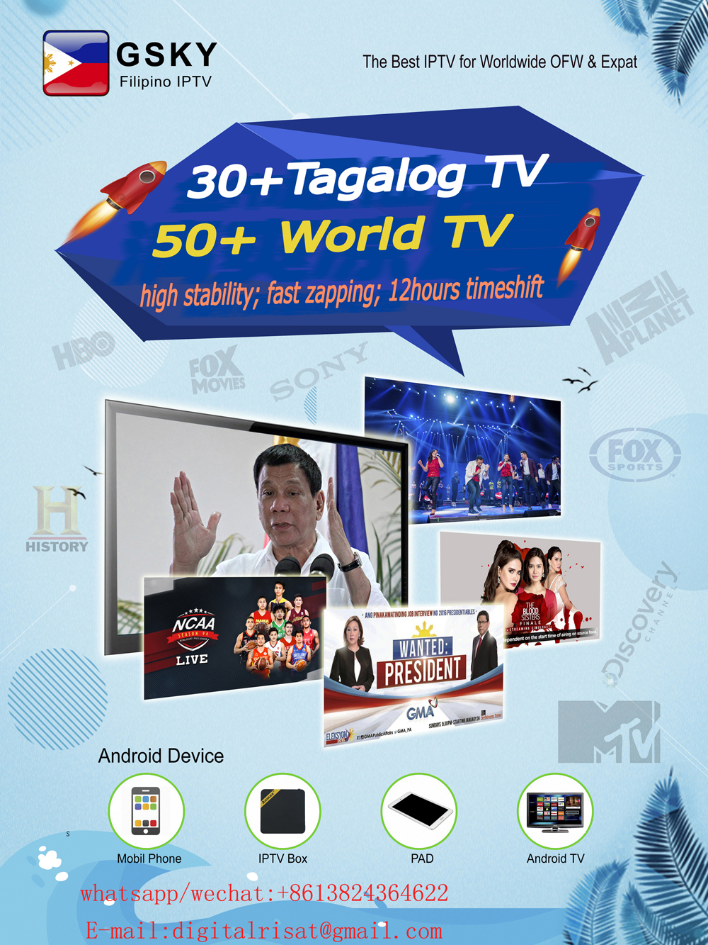 GSKY Filipino IPTV add Lifetime HD channel-in Radio & TV Broadcast