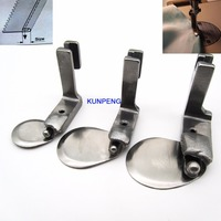 3 pcs. INDUSTRIAL SEWING MACHINES ball ROLL HEMMING Feet fit for BROTHER JUKI CONSEW#490358 1/8+ 3/16+1/4